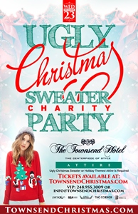 The Ugly Christmas Sweater Charity Party at The Townsend Hotel
