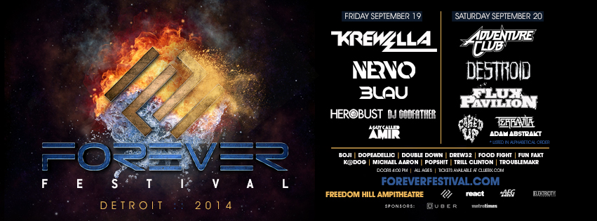Forever Festival 2014 at Freedom Hill - Friday, September 19th and Saturday, September 20th